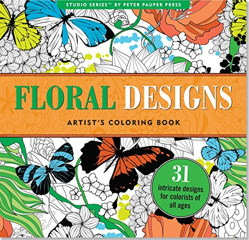 Pdf Crafts Floral Designs Adult Coloring Book (31 stress-relieving designs) (Studio)