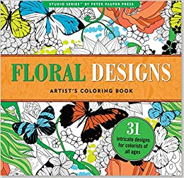 Amazon Floral Designs Adult Coloring Book 31 Stress