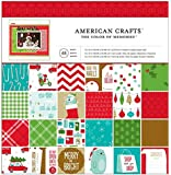 American Crafts Be Merry Patterned Paper Pad, 12 by 12-Inch