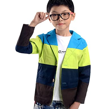 004908d91 Amazon.com  NABER Kids Boys  Fashion Color Splicing Jacket Party ...