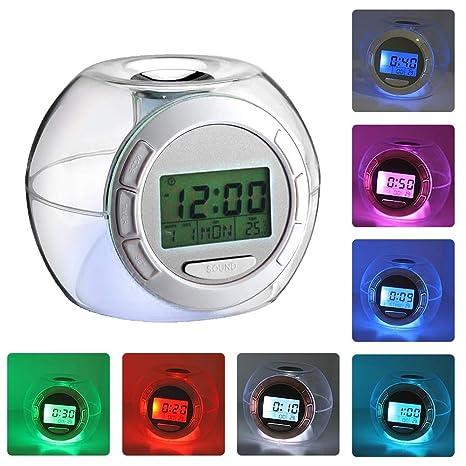 Reloj despertador LED para niños, despertador Relojes ...
