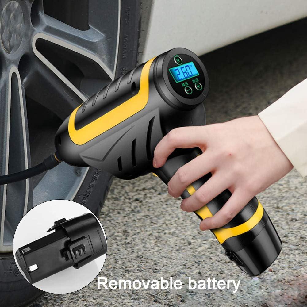 Inflador de Llantas compresor de Aire Inteligente Pantalla Digital de la Bomba de Aire para inflar con Aire para el Coche//de la Bicicleta//de la Motocicleta