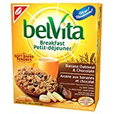 belVita Soft Baked Breakfast Biscuits, Banana Oatmeal & Chocolate Flavour, 5 Pouches (1 Biscuit Per Pouch)
