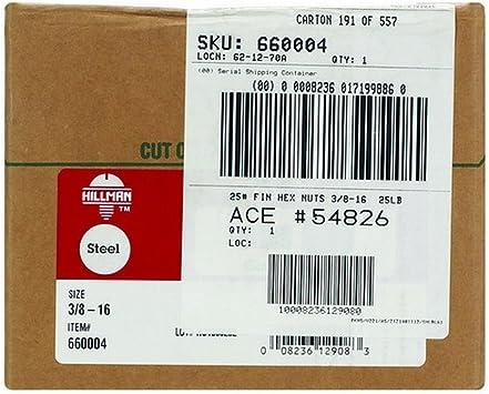 25 3//8-16 GRADE 8 HEX NUTS ZINC PLATED 25 PIECES COARSE THREAD