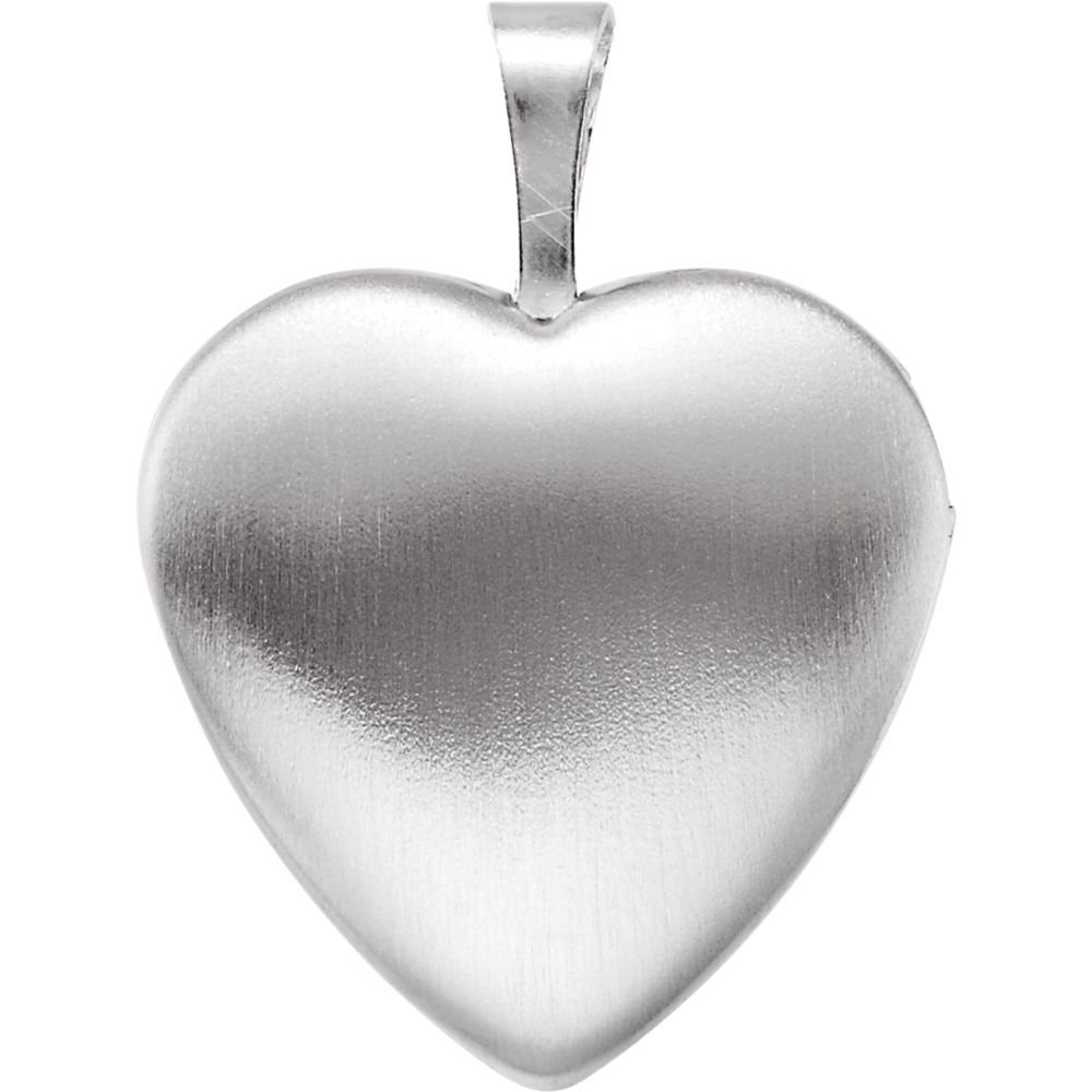 Sterling Silver 15.8x16mm Polished Color Dove With Cross Heart Pendant Locke