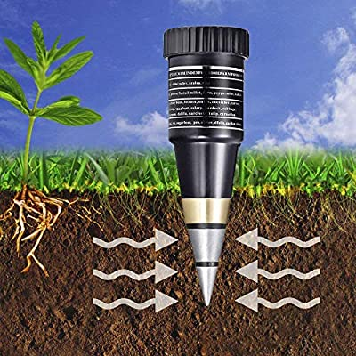 Göksu Soil pH & Moisture Meter Gardening monitor Tool Test Kits for Plant Care, Great for Garden, Field, Lawn, Farm, Indoor & Outdoor Use, Soil Water Level Promote Organic Plant Healthy Growth - Black