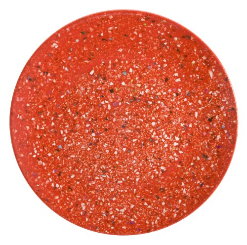 Red Accent Salad Plate - Zak Designs 0078-0316-ISET Confetti Salad Plates, Dinner Set, Red
