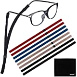[8 Pack] Adjustable Eyeglasses and Sunglasses Holder Strap Cord for Sports, Tomorotec Polyester Eyeglass Retainer with…