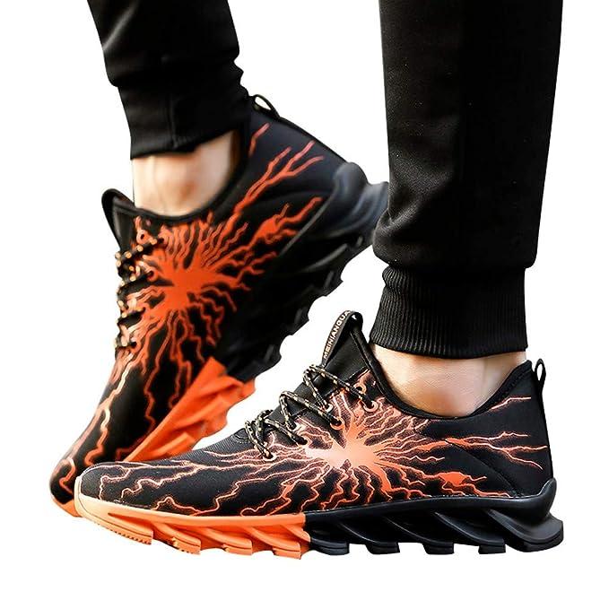 JiaMeng para Caminar, Moda Zapatos De Running Deportivas para Correr Hombre Ocio Aire Libre relámpago Zapatos para Correr Zapatos de Ocio Calzado Deportivo ...