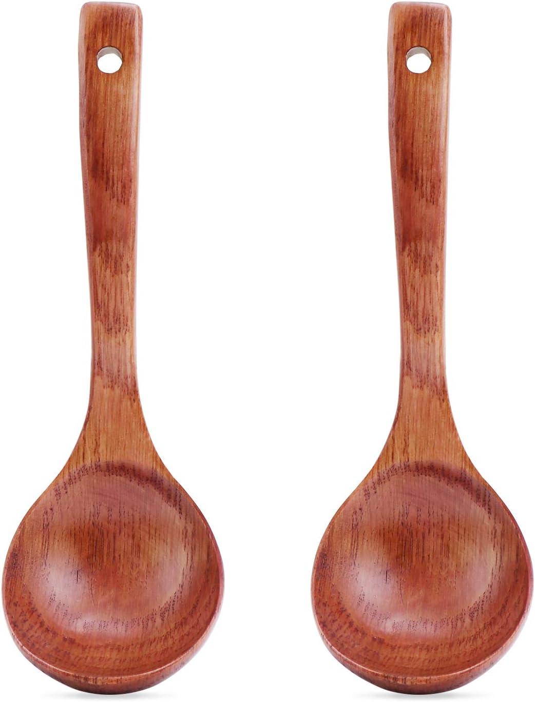 Cocina De Casa Tamaño 3 Madera Cuchara de Madera profundo Cocinar Sopa Gachas Cuchara Utensilio