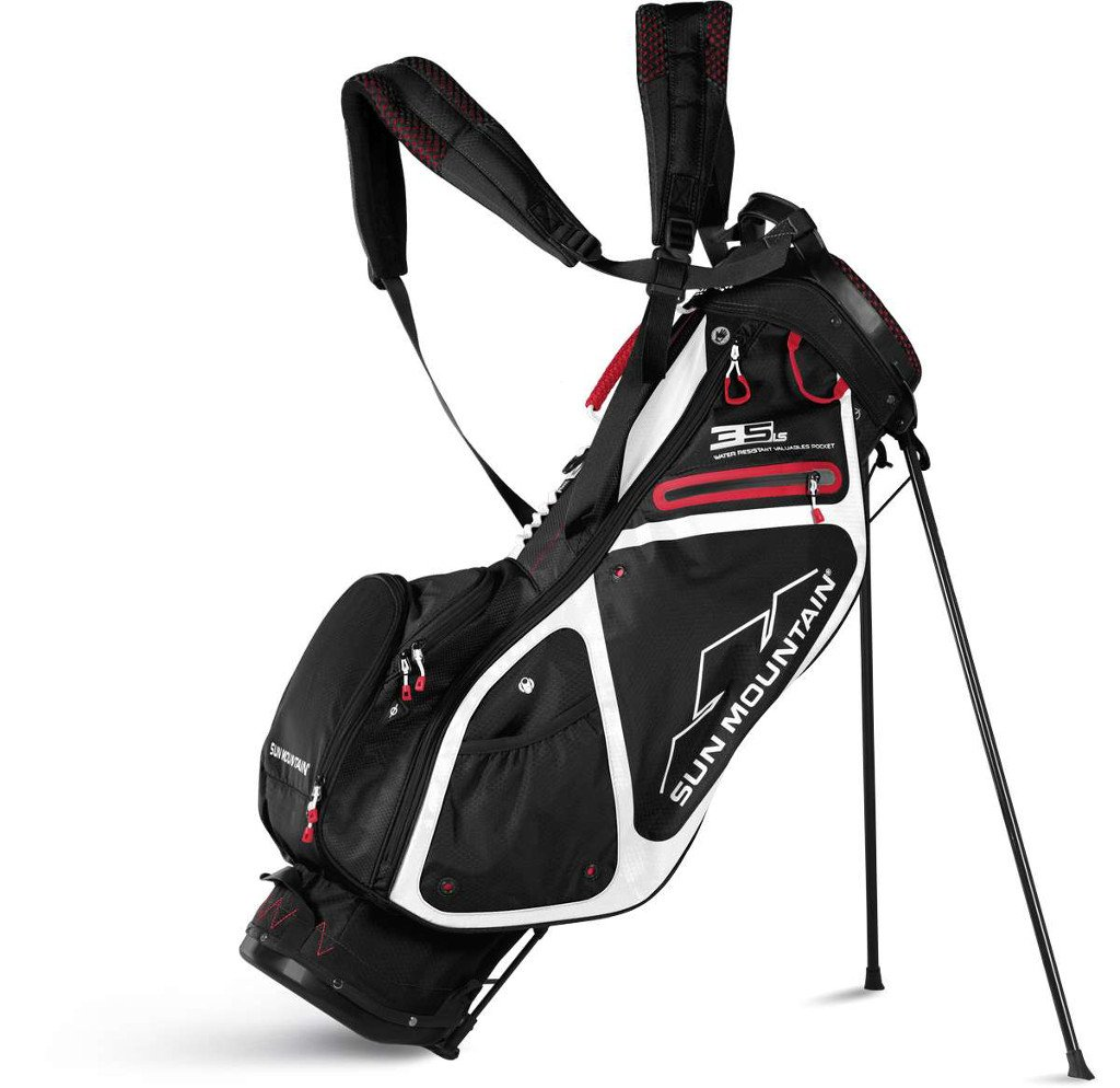 Sun Mountain Golf 2018 3.5 LS Stand Bag BLK-WHT-RED (Black/White/Red)