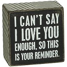Primitives By Kathy Letrero De Caja, 3por 7.6cm, I Love You