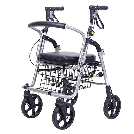 Andador La movilidad Andador plegable Walker cesta de la ...