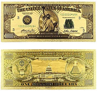ZYZRYP 紙幣米ゴールド紙幣USA金箔1ミリオンダラー・ビル注ゴールド紙幣コレクションホームデコレーション 使いやすい (色 : A)