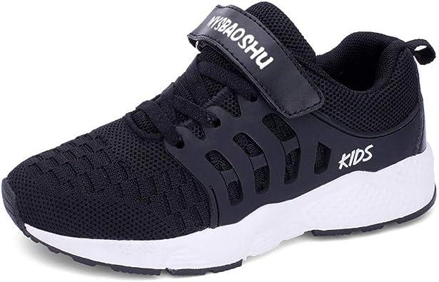 Decai Ligeras Zapatillas Deportivas Unisex Niños Zapatillas de Correr Niño Zapatos Deportivo Transpirable Niña Zapatos de Running Deportes de Exterior Interior Negro 30 EU: Amazon.es: Zapatos y complementos