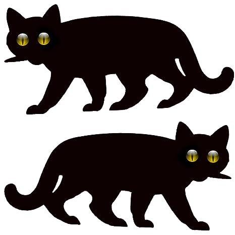 Gato Asustador De Jardín Con Ojos Reflectantes - 2x Gatos Asustadores