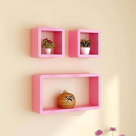 Amazon.com: Wall Shelves Floating Wall-mounted Lattice Living Room ...