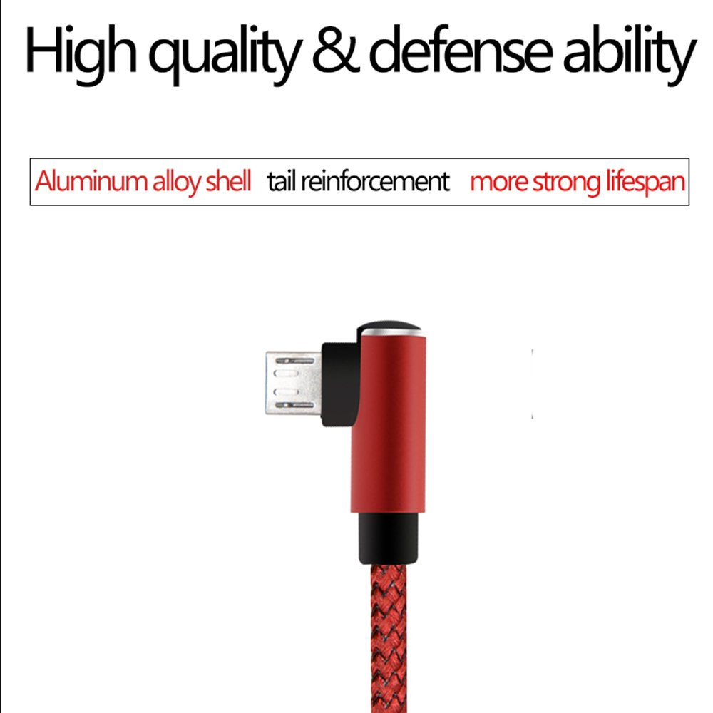 Amazon.com: Micro USB Cable Nylon Braided, Uminsin 90 Degree Angled ...