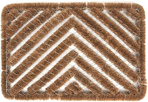 Ninamar Natural Coir Herringbone Door Mat – 24 x 16 inch