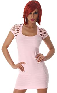 5e7df8af52fb4 Damen Minikleid Kleid Shirt Longtop Longshirt Spitze Transparent ...