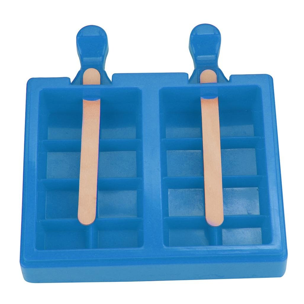 Hot Sale! Ice Cream Tools Popsicle Mold Ice Trays Lattice silicone Ice Maker, Stackable Miniature Ice Cube Tray for Mini Fridges, RV/Marine Freezers, Dorm Freezers and Small Freezers (Blue)