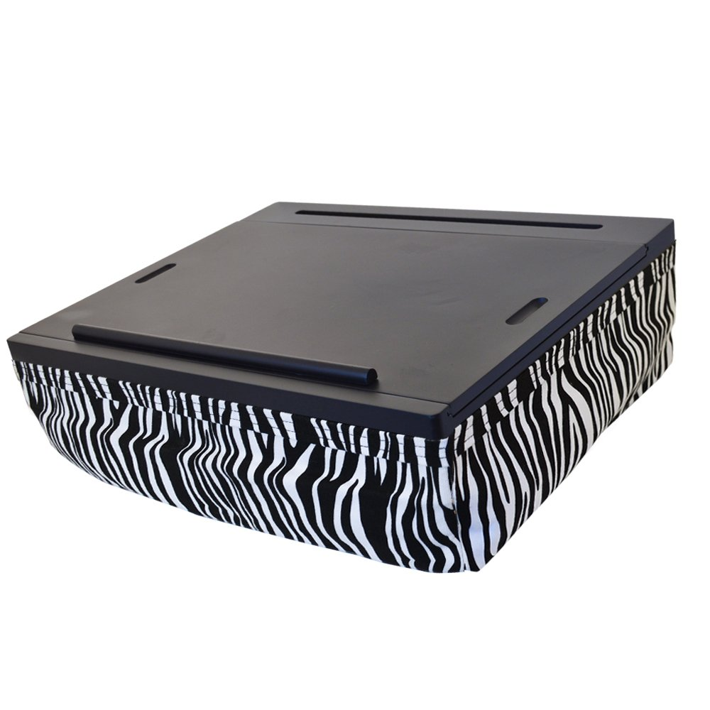 Portable Cushion Lap Desk With Storage Zebra Ebay