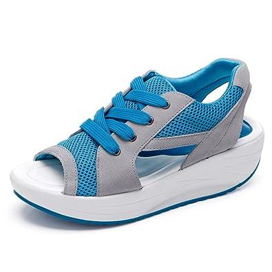 Solshine Damen Netz Atmungsaktiv Sandalen Turnschuhe Laufschuhe Offene Zehen Sneakers fLWEZfUGs