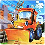 Facial Recognition Os X - DZT1968 22kinds Wooden Puzzle cartoon Educational Development Baby Training Toy Christmas Gift (g)