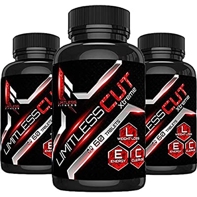 Limitless CUT xtreme: Weight Loss Pills, That Work with Green Coffee Bean, Raspberry Ketone, Thermogenic, with Acai Berry, Yacon Extract, Green Tea Extract, Weight loss supplement, Fat burner.