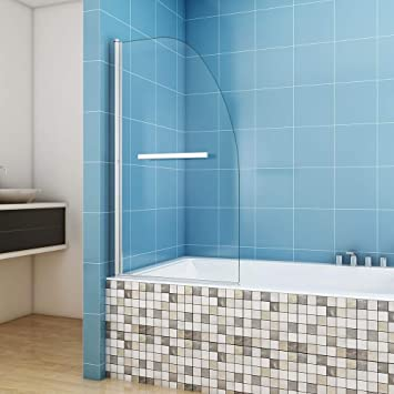 Ducha Bañera para pared plegable pared 80 x 140 cm cristal ...