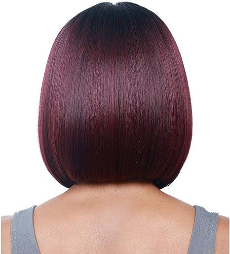 DER Wig Negro Vino Red Wave Head Split Mujer Wig Head Cover ...