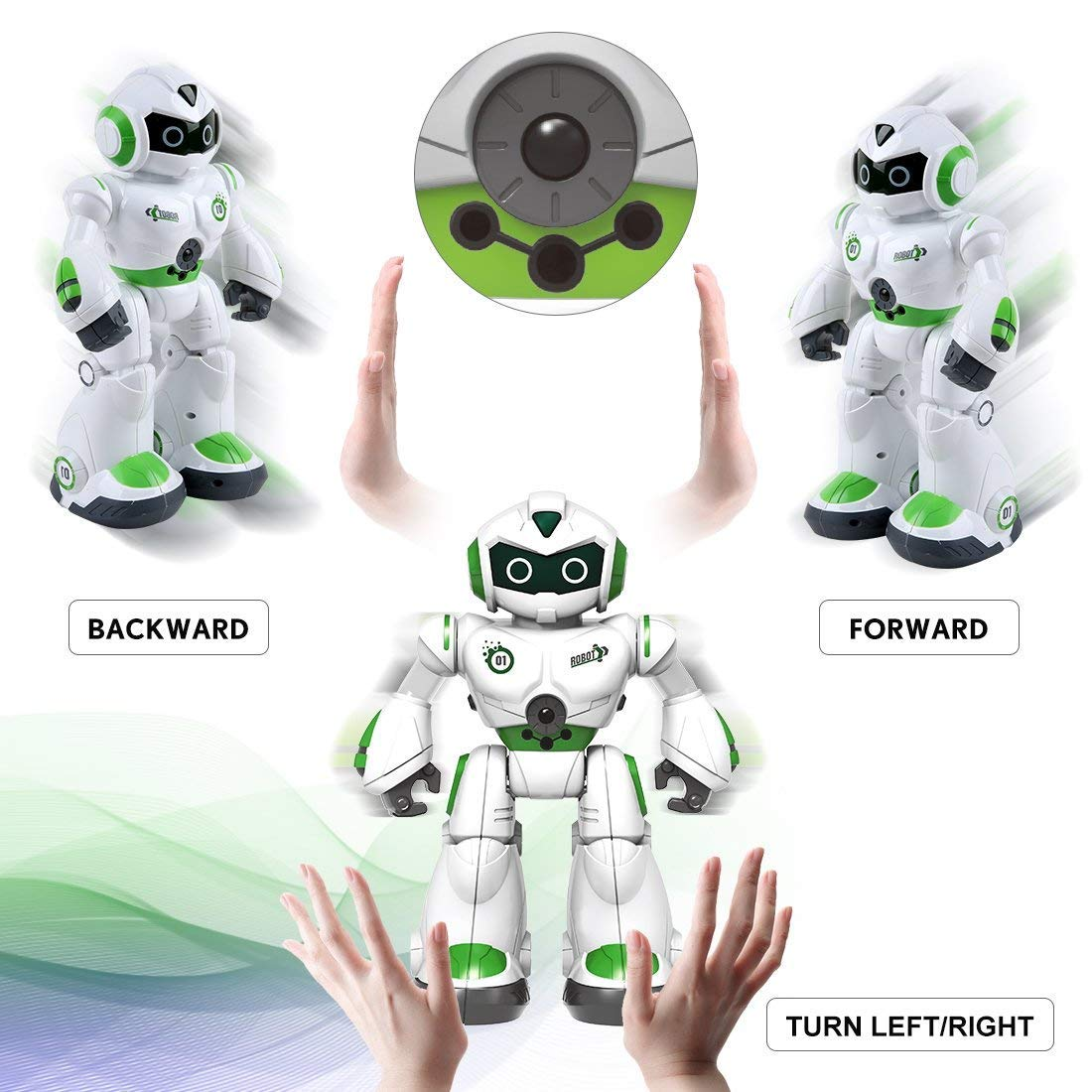 Remote Control Robot,Robot Toys,Smart Robotics for Kids with Gesture Sense, Interactive Walking Singing Dancing Speaking,with LED Light, Shoots Missiles, Talking, Walking, Singing, Educational Toys by Locke Teddy (Image #3)