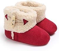 Jinxuny Botas Calientes para niña Gruesas Botas cálidas de Invierno Bebés Niños Chicas Zapatos térmicos para bebés Botas de Nieve Antideslizantes (Color : Red