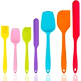 Silicone Spatula Set of 7, P&P CHEF Heat-Resistant Rubber Spatula Kitchen Utensils Set for Non-stick Cooking Baking…