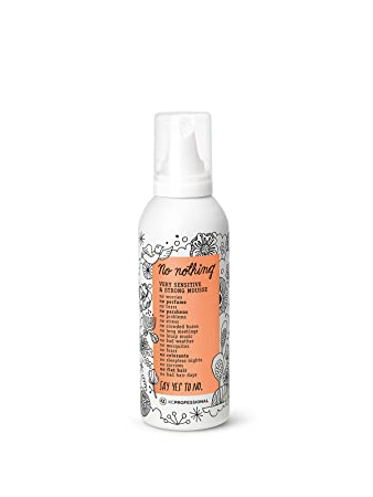 No nothing Very Sensitive Strong Mousse - Fragrance Free, Hypoallergenic, Alcohol Free, Unscented