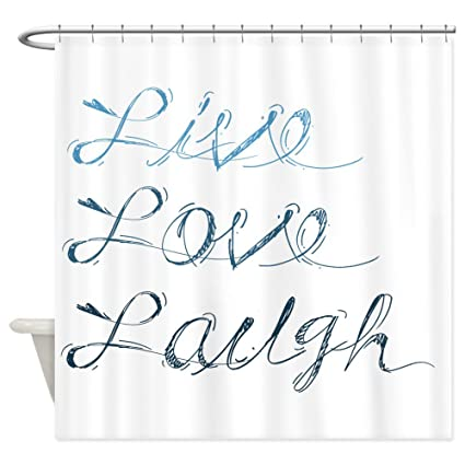 Image Unavailable Not Available For Color CafePress Live Love Laugh Shower Curtain