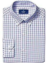 Men's Fitted Pattern Non-Iron Dress Shirt (3 Collars...