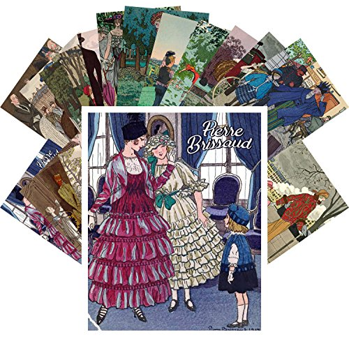 Postcard Set 24pcs Pierre Brissaud Vintage Magazine Illustrations Ponchoir La Vie Parisien