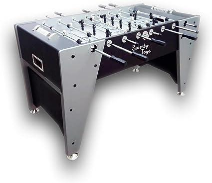 Sweety Toys 6670 mesa futbolín Kicker gris- plata- negro: Amazon ...