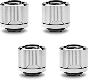 "EKWB EK-Quantum Torque STC-12/16 Compression Fitting for Soft Tubing, 12/16mm (7/16"" ID, 5/8"" OD), Nickel, 4-Pack"