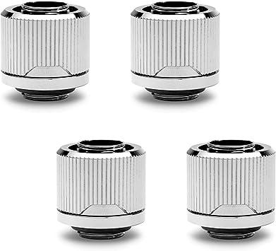 4-Pack EKWB EK-Quantum Torque STC-12//16 Compression Fitting for Soft Tubing 12//16mm Black Nickel 7//16 ID, 5//8 OD