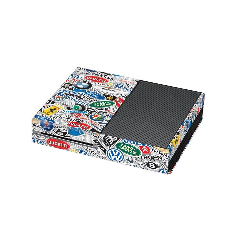Cover for Microsoft Xbox One Console StickerBomb Car Company Logos Print Xbox One Vinyl Wrap Skin