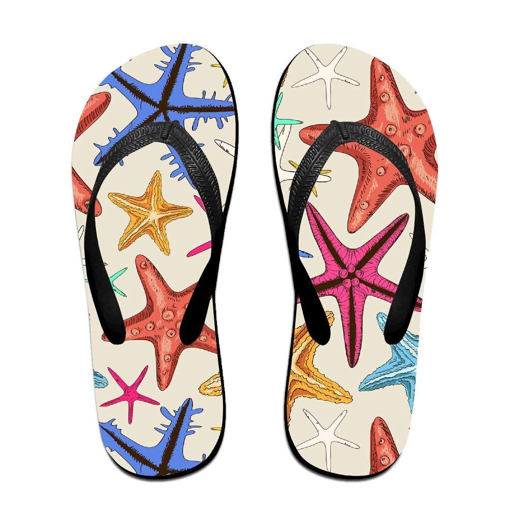 Kelysun Summer Beach Sanls Starfish Colorful Comfortable Flip-Flop Multiple Sizes Unisex