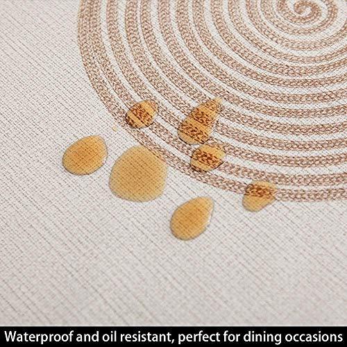 137x137 cm In rattan. facile da pulire Vinile PVC impermeabile antimuffa Plenmor Tovaglia pesante in cloruro di polivinile per tavolo rettangolare antimacchia resistente allolio
