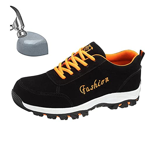 the latest ab3e2 9ccf8 JACKSHIBO Women Men Steel Toe Work Shoes, Breathable Outdoor Industrial and  Construction Safety Shoes,