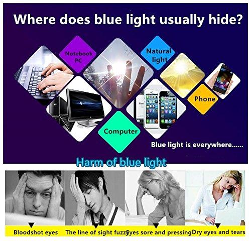 Blue Light Blocking [Rimless frame] Computer Glasses, Anti UV Eye Strain Clear Lens Reading Video Eyewear by AoHeng (Image #2)