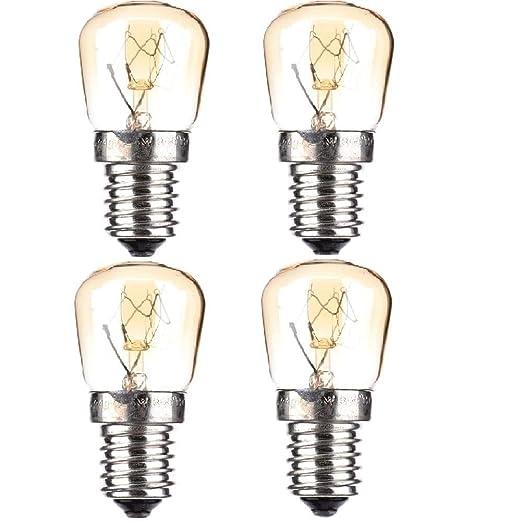 4PCS Lámpara para Horno, SES (E14), Bombilla para Horno De Vidrio ...