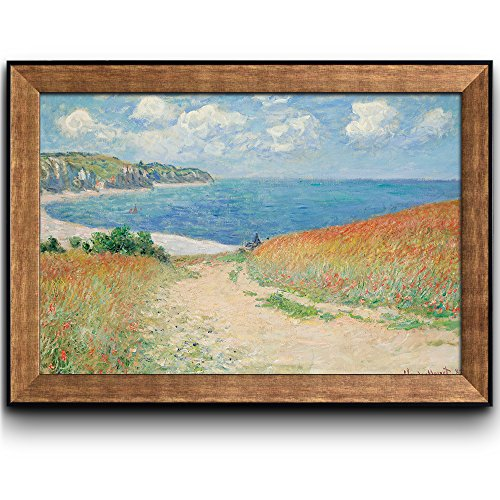 Path Through The Corn At Pourville by Claude Monet Framed Art