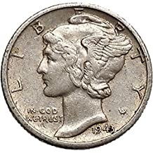 1943 unknown Mercury Winged Liberty Head 1943 Dime United Stat coin Good