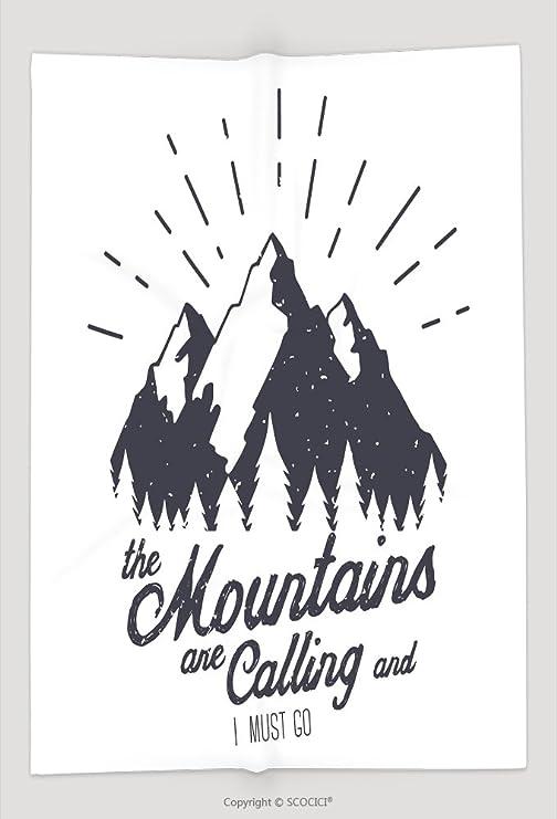 Manta de Custom Vector montaña con textura ilustración de dibujo ...